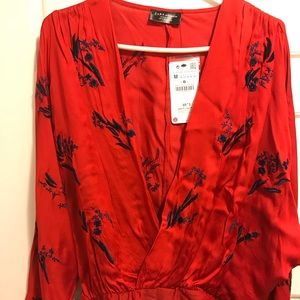 Zara Long Sleeve Bodysuit.